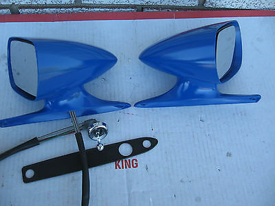 1971 72 73 FORD MUSTANG  Mach I Convertible Bullet Sport Racing Mirrors D1ZB