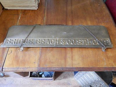 Bridge Beach & Co., St. Louis, Large, Old Wood Stove Piece! Heavy!