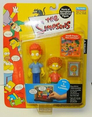 The Simpsons Rod and Todd Flanders  Action Figure with Voice Playmates 2002 NEW