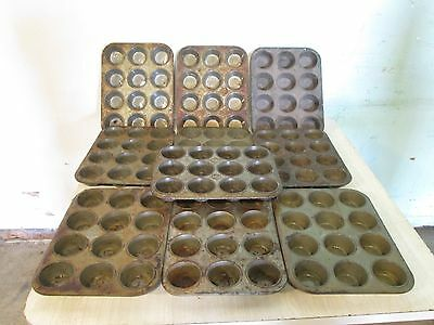 """Lot Of (10) """"ekco"""" Heavy Duty Commercial Standard Muffins/cup Cakes Baking Pans"""