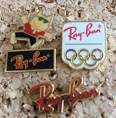Lot 3 RARE PINS PIN'S  RAYBAN JO OLYMPIQUE OLYMPIC Games LUNETTES Arthus B