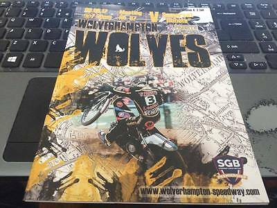 Wolverhampton Wolves V Somerset Rebels--Speedway Programme--8Th May 2017