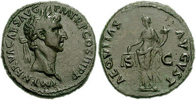 ROME, Nerva. 96-98 AD. Æ As. (27mm, 10.14 gm). Struck 97 AD. VF.