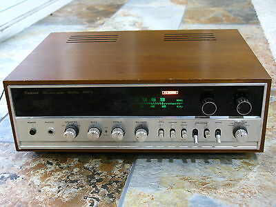 Vintage Sansui 1000X Stereo Tuner Amplifier Working decent wood case