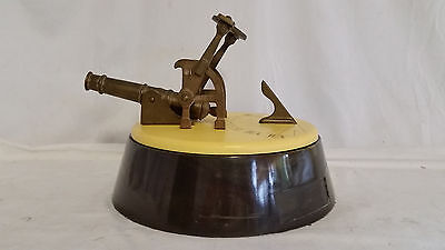 Antique Noon Sundial Brass Signal Cannon Replica,Sanka Coffee Presentation Award