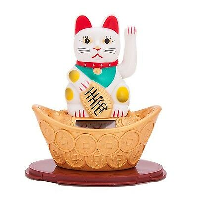 Solar Powered Bobblehead Toy Figure Nohohon, Lucky Cat 068
