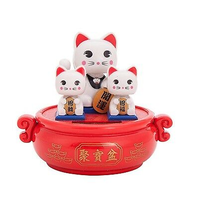 Solar Powered Bobblehead Toy Figure Nohohon, Lucky Cat 071