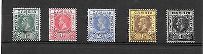 Gambia  Stamps  1912  King George V   1 Used 6 M/h
