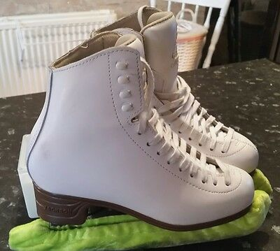 Girls White Figure Ice skates Size 5.5