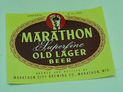 Vintage Marathon Superfine Old Lager Beer Paper Labels 600+