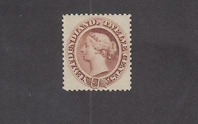 NEWFOUNDLAND # 29 VF-MH QUEEN VICTORIA 12cts BROWN CAT VALUE $100