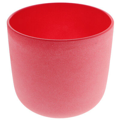 Frosted C note Root Chakra Crystal Singing Bowl Excellent Quality 7 Inch Red