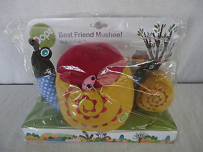 BEST FRIEND MUSHEE OOPS Multi Activity Toy BABY INFANT SNAIL FAMILY 3m BNIP 4198