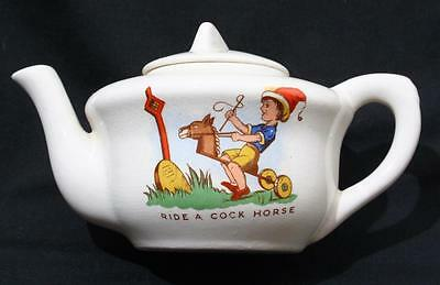 Antique Vintage Art Deco Childs Nursery Teapot - Ride a Cock Horse