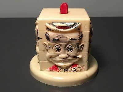 Unusual 1950's Commonwealth Hard Plastic Mix-A-Head Toy - Excellent!