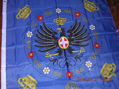 100% New Reproduced Royal Standard of Italy 1880 - 1946 Flag Ensign, 120X120cm,