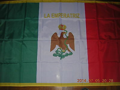 NEW reproduced Imperial Standard of Carlota Mexican Flag Mexico Ensign 3X5ft