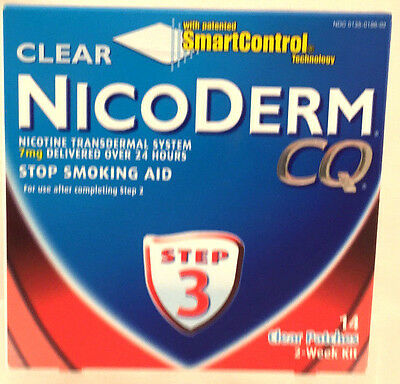 NicoDerm CQ Clear Step 3 Two-Week Kit 4/2016 + 3 FREE Additional Boxes Read Desc