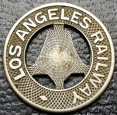 Los Angeles Railway Good For One Fare Transit Token