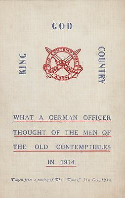 The Old Contemptibles in 1914, A German Officer on the Men of Mons..
