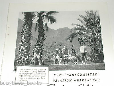 1940 Southern California Tourism ad, golf, palm trees