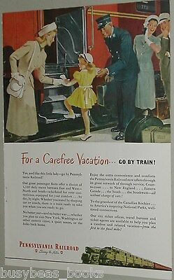 1948 Pennsylvania Railroad ad, Trainman, travelers