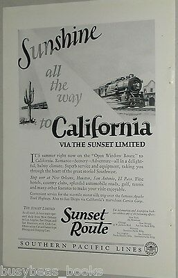 1925 Southern Pacific RR advertisement, Sunset Limited, California
