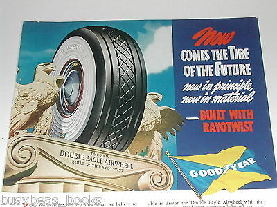 1938 Goodyear Tire ad, Double Eagle tire, color art