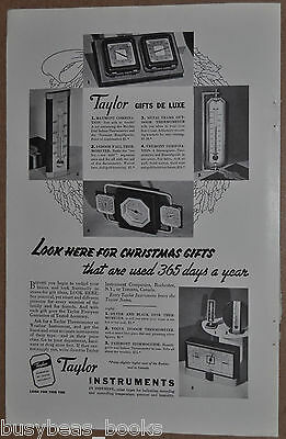 1936 Taylor Instrument advertisement, barometer, thermometer etc