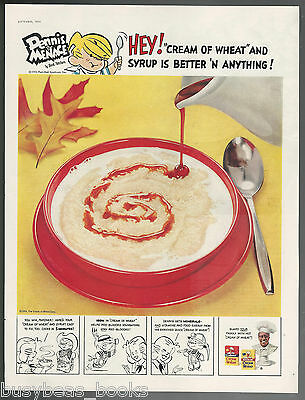 1955 CREAM of WHEAT advertisement, with Dennis the Menace cartoon, large size ad