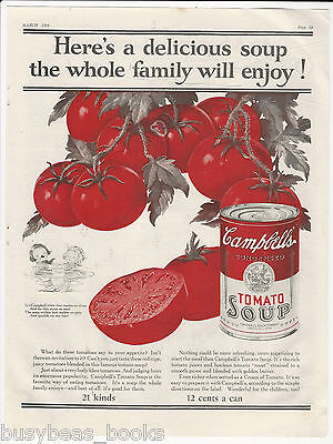 1925 CAMPBELL'S SOUP advertisement, Campbell's Kids, Tomato Soup, large size ad