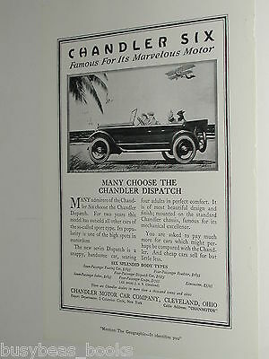 1920 Chandler Motor Car Co. advertisement page, Chandler Dispatch model
