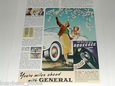 1939 General Tire advertisement, Dual-8 Squeegee Tires, color