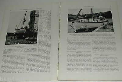 1921 magazine article, sailing 47ft sailboat  South Pacific