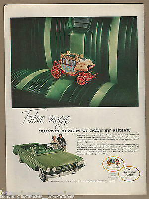 1960 FISHER BODY advertisement, Napoleonic Coach model on Olds 98 seat, large ad