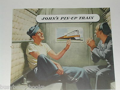 1945 Milwaukee Road advertisement, Hiawatha, WWII pinup, Navy bunks