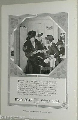 1918 Ivory Soap advertisement, wealthy lady & Black maid, hired help
