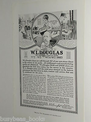 1920 W. L. Douglas Shoes advertisement, Shoemaker, cobbler, not elves