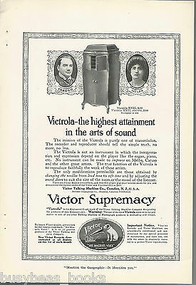 1917 VICTROLA advertisement, Victor Talking Machine model XVII
