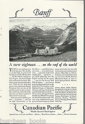 1928 Canadian Pacific advertisement, BANFF SPRINGS HOTEL
