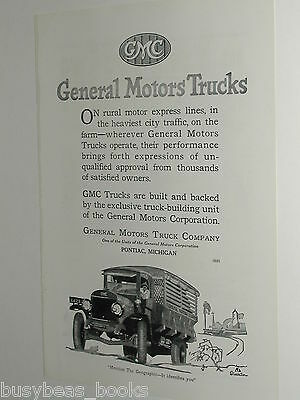 1920 General Motors Trucks advertisement page, GMC motor express truck