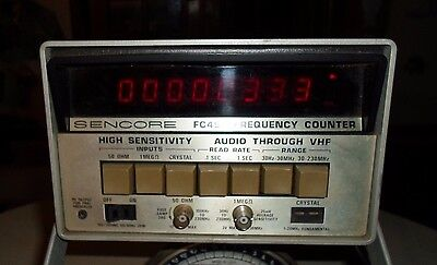SENCORE Frequency Counter Model FC 45 PLEASE READ