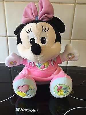 Disney Baby Minnie Mouse Activity Talking Musical Plush Soft Toy