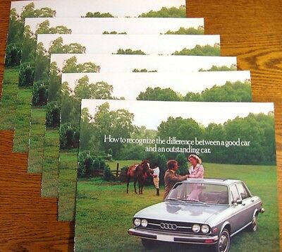 1977 Audi 100LS Dealer Sales Brochure LOT (6) pcs, MINT