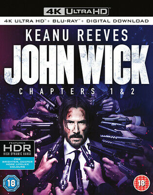 John Wick: Chapters 1 & 2 DVD (2017) Keanu Reeves ***NEW***