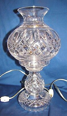 Waterford Lismore Electric Hurricane Lamp