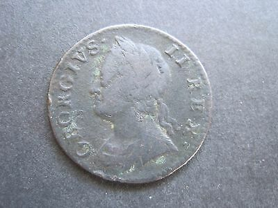 1754 George 11 Farthing Coin.