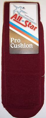 All Star AP-26 Pro Cushion Team Socks Size 10-15 MAROON 1 DOZEN Team Pack
