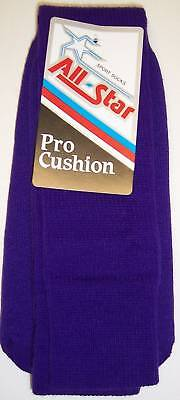 All Star AP-22 Pro Cushion Team Socks Size 8-10 PURPLE 1 DOZEN pairs TEAM PACK
