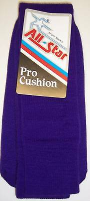 All Star AP-26 Pro Cushion Team Socks Size 10-15 PURPLE 1 DOZEN Team Pack
